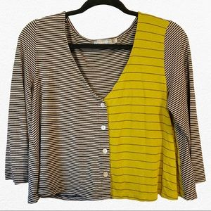 ALEMBIKA Honey/Black/Gray Tan Stripe Cardigan 3
